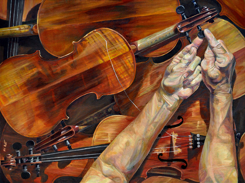 Variations for Violin by Paul Rutz. 2013. Oil on canvas. 18 x 24 inch