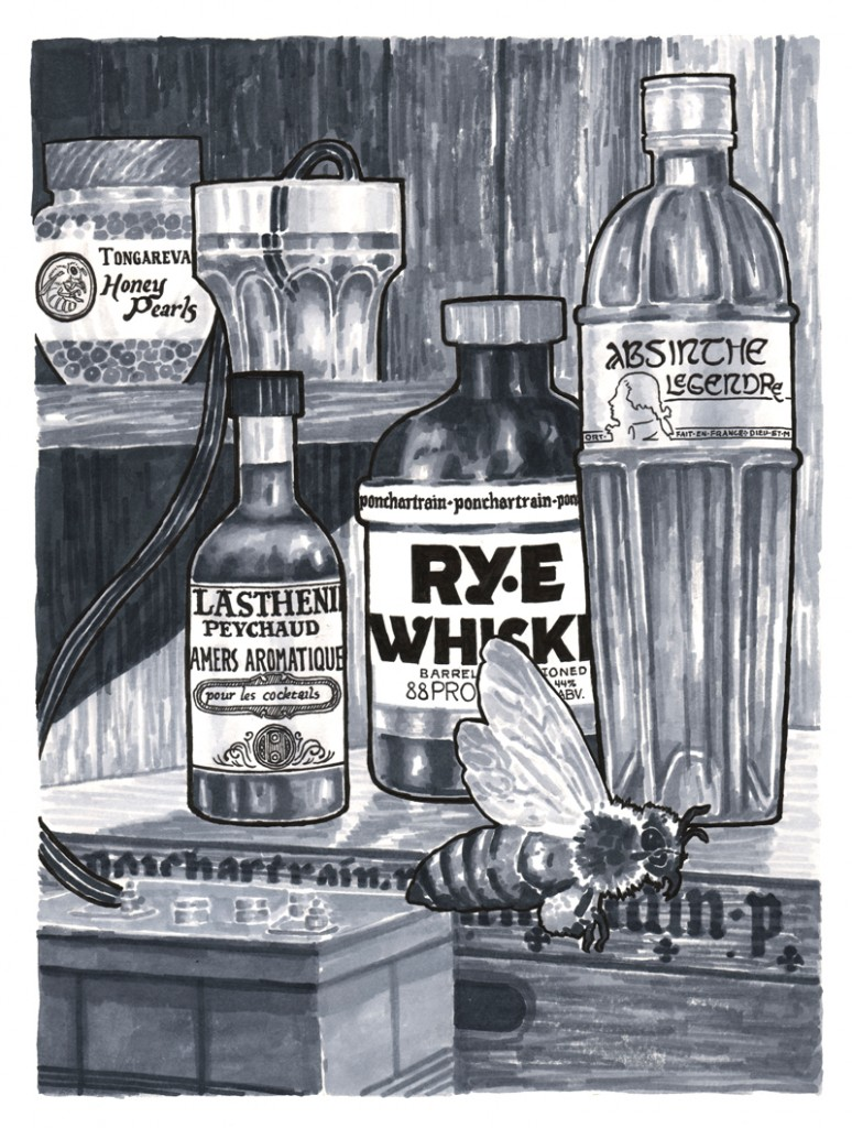 Electric Sazerac. Illustration by Ezra Butt