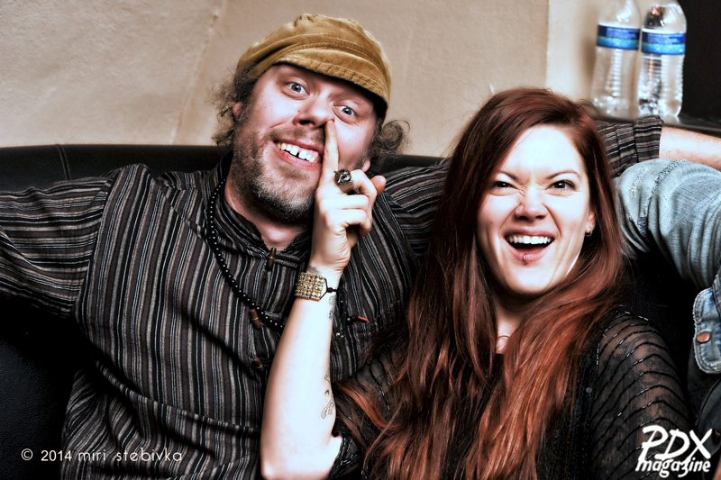 Rick Bain and Zia McCabe at the PDX Magazine Issue #7 launch at Star Theater, a part of the 2014 Soul'd Out Music Festival.