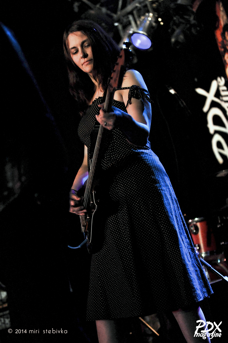 Amy Bain at the PDX Magazine Issue #7 launch at Star Theater, a part of the 2014 Soul'd Out Music Festival.