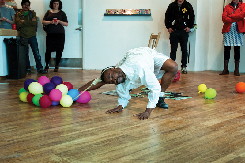 Keyon Gaskin performing at the closing event of Place. Photo by Ross Blanchard