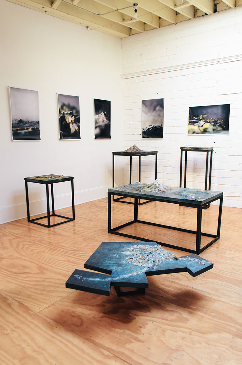 """Installation view from """"Finding Our Place"""" at Lightbox Kulturhaus, June 2013. Photograph by Rana Young."""