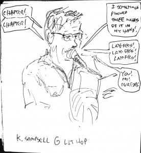 Portrait of Kevin Sampsell, by Mykle Hansen