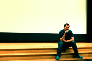 Producer Kevin Moyer speaks at Heaven Adores You screening. Photo credit: Stephanie Neil
