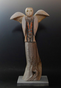 Benevolence, wood carving by Stan Peterson